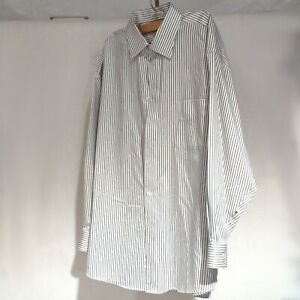 Men's Dress Shirt ~ Joseph and Feiss ~ White with Stripes~ Size 17 32/33