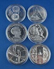 6x 10 euros monedas conmemorativas BRD 2009 en pp