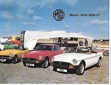 MG MIDGET, MGB AND MGB GT SALES BROCHURE NOVEMBER 1978 FOR 1979