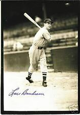 LOU BOUDREAU BOSTON RED SOX INDIANS HALL OF FAME  AUTOGRAPHED  PHOTO