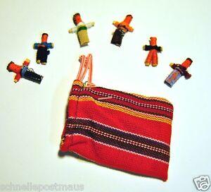 6 Sorgenpüppchen Sorgenpuppe Trostpuppe Fair Trade Maja Worry Dolls Guatemala