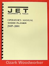 "JET/Asian JWP-20H 20"" Planer Operator's & Parts Manual 0390"