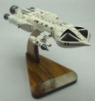 Mark-IX Hawk Space 1999 Spacecraft Mahogany Kiln Dry Wood Model Small New
