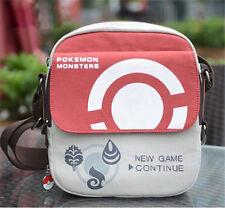 Anime Pokemon Go PokeBall Canvas Shoulder Bag Messenger + Keychain Xmas Gift