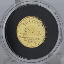 Canada 2014 Beaver - Canada's Classic Coin Design - 50-Cent 1/25 oz. Pure Gold