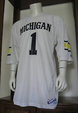XL Men Champion #1 Michigan Wolverines NCAA Football Jersey Vintage vtg EUC