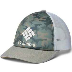 Columbia Women's Camo Mesh Hat II Trucker Snap Back Closure NWT