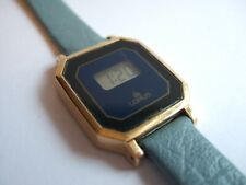 RARE Vintage 80's Good Women's Lorus by Seiko RK016 LCD Digital Gold Pl watch!