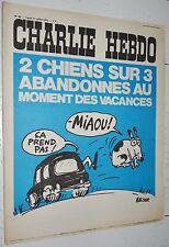 CHARLIE HEBDO N°89 31/07 1972 WOLINSKI CAVANNA CHORON REISER GEBE WILLEM CABU