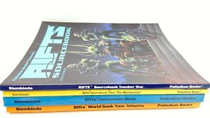 Rifts RPG Book Lot of 4  Palladium Vintage Role Playing Game Sourcebook 1 & 2 +