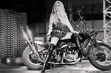 "Brigitte Bardot on Harley Davidson Poster 8.5"" x 11""   Photo Print"