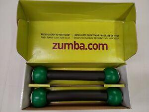 Zumba 1 lb Toning Sticks Shaker Weights (Set of 2) New In Box ~ Free Shipping