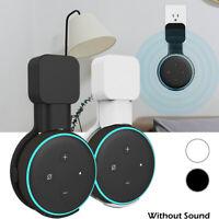 Staffa di supporto per appendiabiti per Amazon Echo Dot terza generazione Bianca