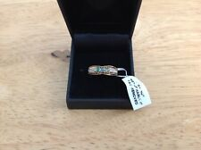 Welo Opal And Diamond Ring Size 7, 14k Gold On Silver