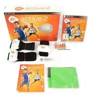 PS3 EA Sports Active 2 Personal Trainer Box Set - Game, Belts & Dongle -Complete