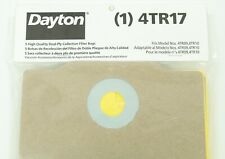 DAYTON 4TR17 Dual Ply Collection Filter Bags PK5 Fits 4TR09 and 4TR10