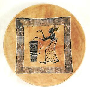 Soap Stone Carved Kenya Hand Dish Art African Woman Drummer Handmade Africa Hand