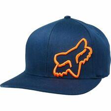 Fox Racing Flex 45 -NAVY/ORANGE- Flexfit Hat -SMALL/MEDIUM- Adult Mens Cap Hat