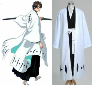 Bleach 5th Division Captain Aizen Sousuke Cosplay Costume Outfit Halloween