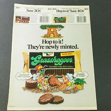 VTG Retro 1987 Keebler Grasshopper Chocolaty Fudge Mint Cookies Ad Coupon