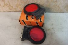"""2 NOS RUBBER 3"""" REFLECTOR VINTAGE CLASSIC TRUCK LORRY BEDFORD LEYLAND AEC COMMER"""