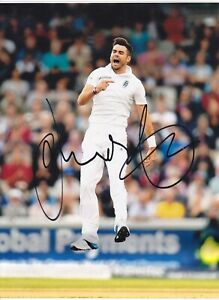England Cricket Legendary Record Bowler JAMES ANDERSON Signed Celebration Photo