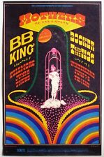 Bill Graham BG 123 Poster: Mothers of Invention, BB King, Booker T, 1968