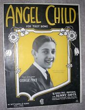 1922 Angel Child Vintage Sheet Music by Georgie Price, Davis, Silver from Spice