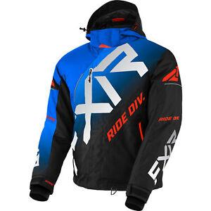 FXR Snow Jacket Cx Jacket Blue-Black Fade/Lt Grey/Nuke Red