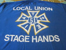 vintage 1980S HOUSTON STAGE HANDS TEE SHIRT CLEAN STUDIO RIGGING AND LIGHTING