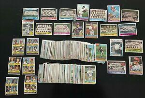 1976 Topps Baseball Partial Set 387/660 Cards  Vada Pinson +