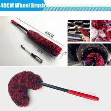 48CM Flxible Wool Brush Clean Wash Tool for Car SUV Wheel Rim Hub Spokes Grills