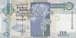 Seychellen / Seychelles P.36a 10 Rupien (1998) (1) UNC