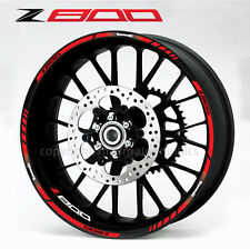 Z800 motorcycle wheel decals 12 rim stickers stripes z 800 ninja Laminated Red