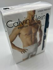 NEW Calvin Klein NU2666 Cotton Stretch Boxer Briefs 3 Pack Black Underwear XL
