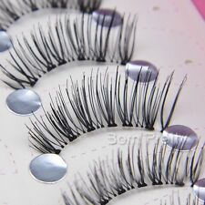 5 Paare falsche künstliche Top Wimpern Handmade False Eyelash Set schwarz #5-8