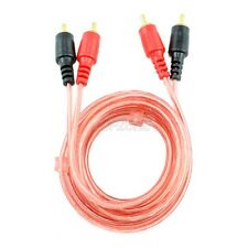 6ft Oxygen free RCA 2 Male plug to 2 RCA male plug Composite Patch Audio Cable