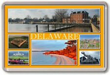 FRIDGE MAGNET - DELAWARE - Large - USA America TOURIST