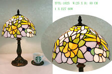 Beautiful Flower Design Tiffany Style Table Lamp 10""