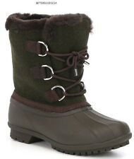 ANTONIO MELANI women LAYTON DUCK BOOTS COLD WEATHER WINTER Waterproof OLIVE 8 M