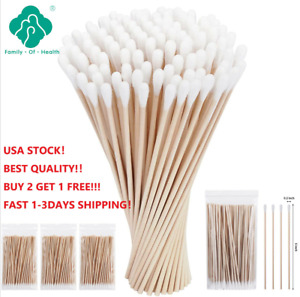 """500XCotton Swabs Applicator Q-tip Swabs 6"""" Extra Long Wood Handle Sturdy"""
