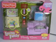X7759 Fisher Price Loving Family Premium Decor Dollhouse Family Room Furniture
