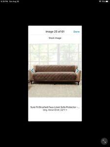 Sure Fit - Sofa Pet Protector - Sofa Cover - Brown