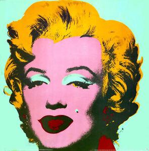Andy WARHOL Marilyn Monroe Green Poster Print 26 x 26