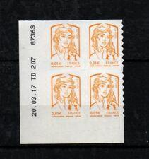 coin daté du timbre adhésif pro n°847 - Marianne de Ciappa et Kawena - 1c jaune