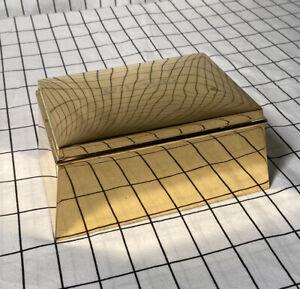 LARGE Tiffany & Co Gold VERMEIL BOX Geometric Sterling Silver 1930s Designer 925
