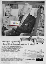 UNITED AIR LINES WHEN YOU FIGURE IT UP-IT'S CHEAPER TO FLY GRANDPARENTS DC-7 AD