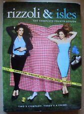 RIZZOLI & ISLES Complete FOURTH SEASON Sasha Alexander and ANGIE HARMAN DVD 4th