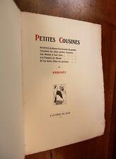 1919 Mac Orlan Petites Cousines Rare édition originale curiosa Roman érotique