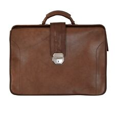 Vintage Aktentasche Briefcase LEDER Leather Braun Brown Business Classic Anwalt
